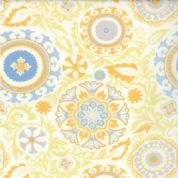 Moda Sunnyside, Kate Spain - 2837 - Floral Geometric on White Background - 100% Cotton Fabric